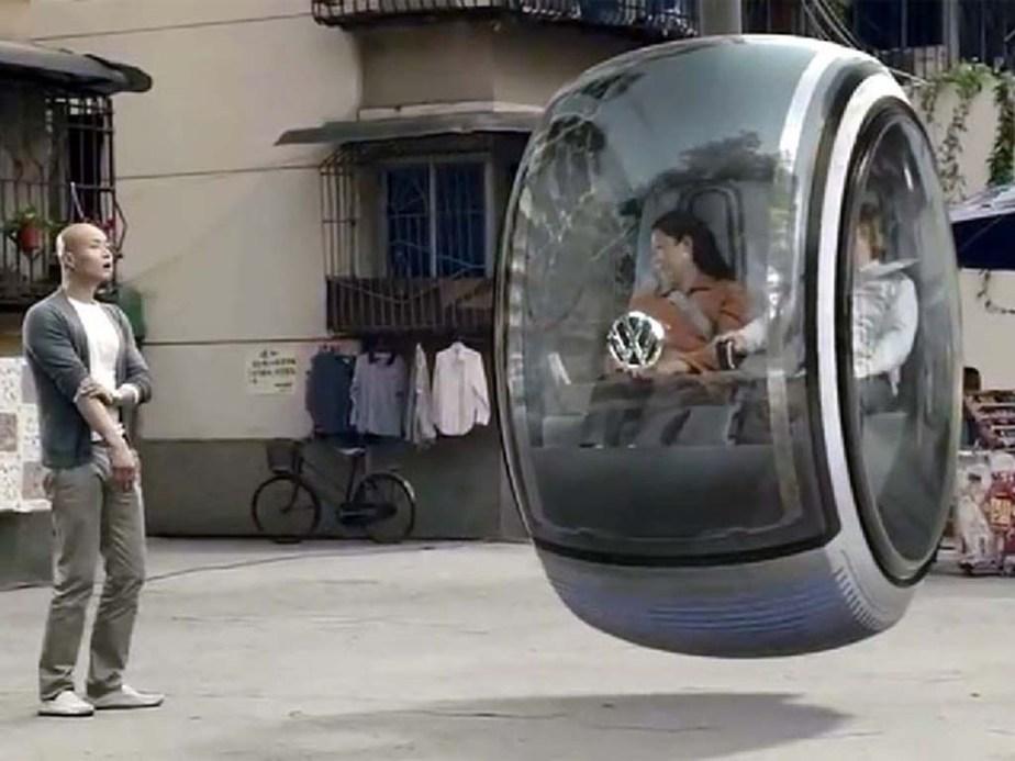 Hover Car, la voiture sans roues deVolswaggen