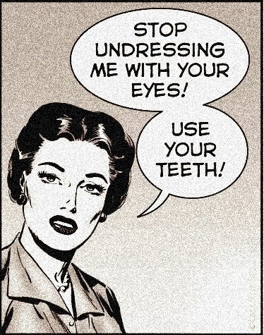 Use your teeth !
