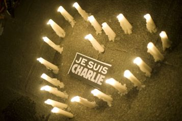Marseille Tribute to Charlie Hebdo