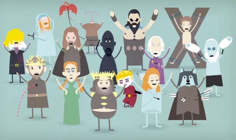 20150415 – Arts  / Ufunk.net : Game of Thrones – Les quatre premières saisons résumées par Dumb Ways to Die |Ufunk.net