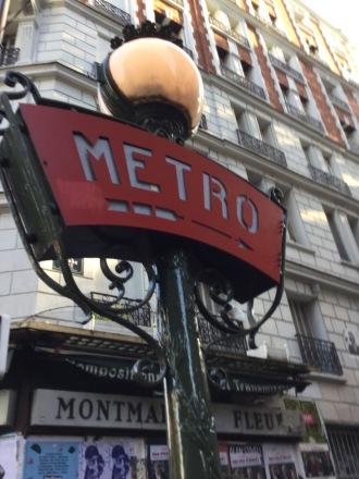 Signe métro Lamarck- Caulaincourt