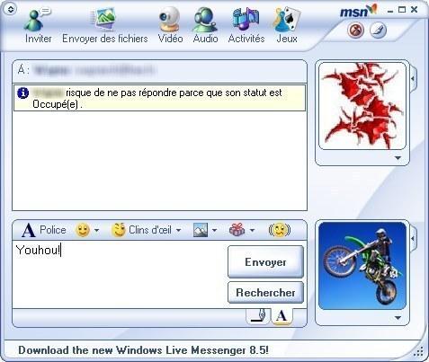 Comment on chattait avec nos copains sur MSN, notamment en les «wizzant».