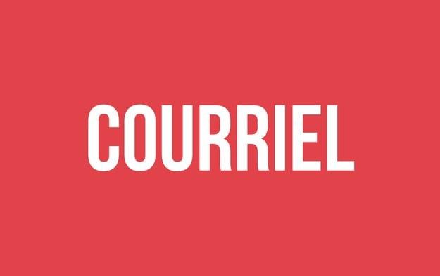 «Courriel» à la place de «email».