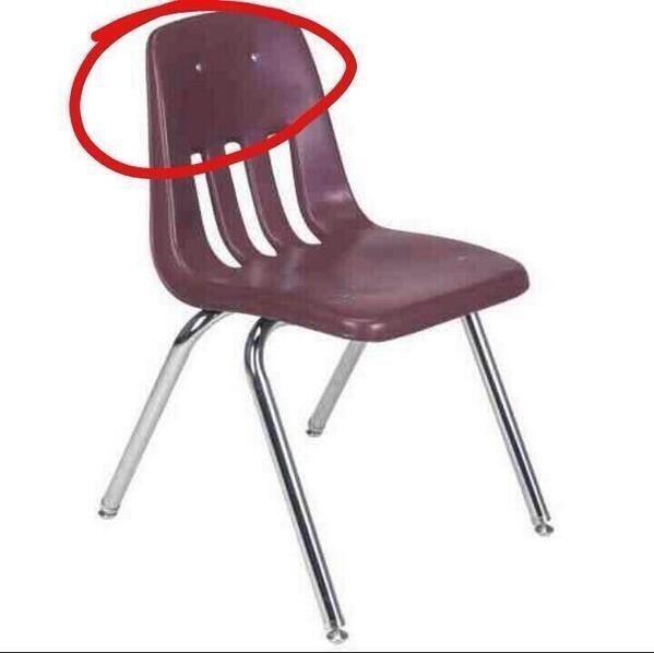 Et le pire endroit de la chaise: