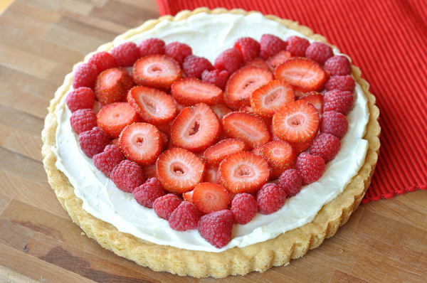 For dessert — because you've got to have dessert on V-day — try this fruit pizza.