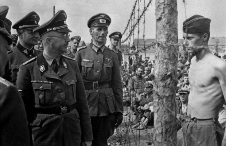 This PoW defiantly confronting Heinrich Himmler during an inspection in 1940-1941.