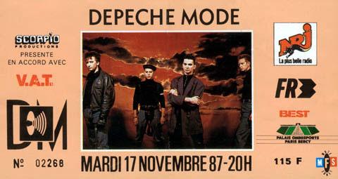Depeche Mode POPB Bercy 1987 MFTM