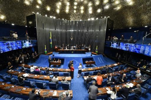 Session du Sénat, le 11 mai 2016 à Brasilia © EVARISTO SA AFP