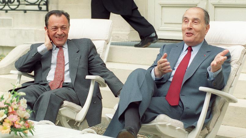 Le 10 mai 1990 au palais de l'Élysée.