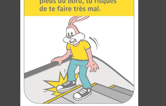 Le nouveau sticker dela RATP à l'effigie de Serge le lapin